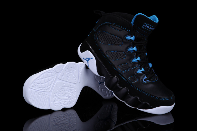 Air Jordan 9 Black Blue White For Kids