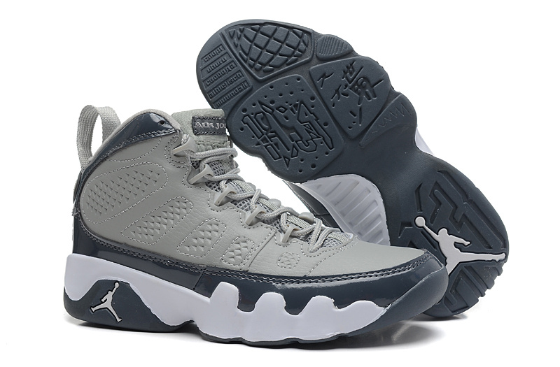 Air Jordan 9 Grey Black White For Women