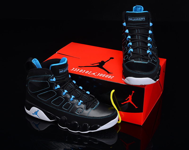 Reissued Air Jordan 9 Black Blue White Shoes