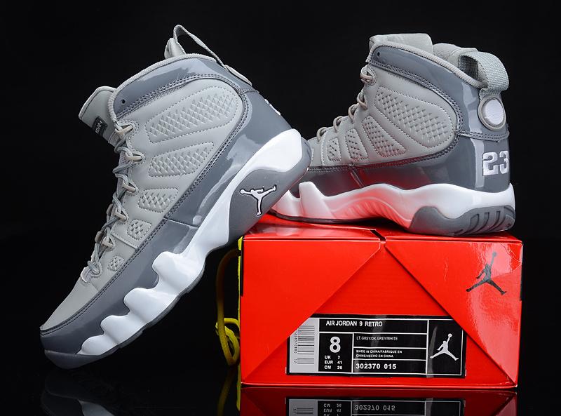 Reissued Air Jordan 9 Grey White Shoes