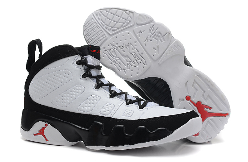 Air Jordan 9 White Black For Women