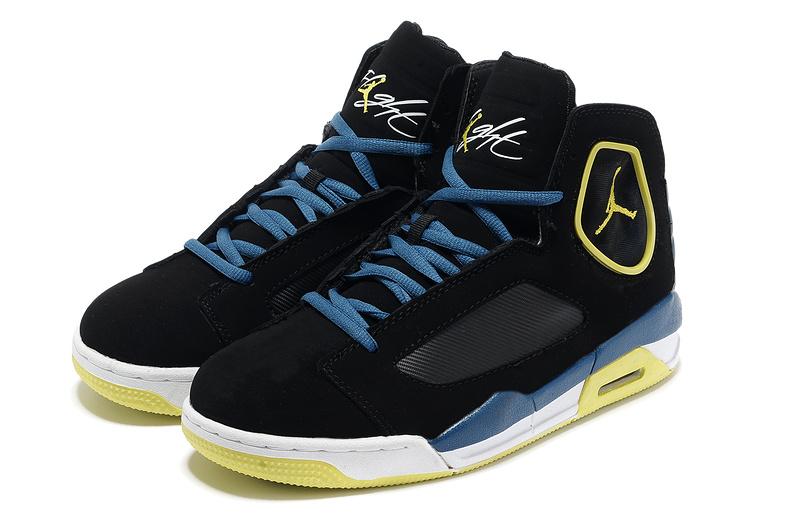 Air Jordan Flight Luminary Black Yellow White Shoes