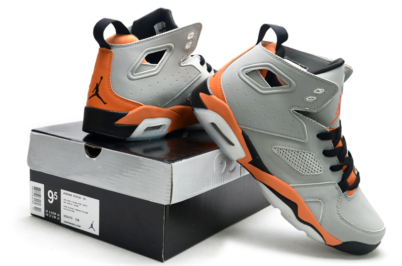 2013 Air Jordan Fltclb 911 Black Grey Orange Shoes