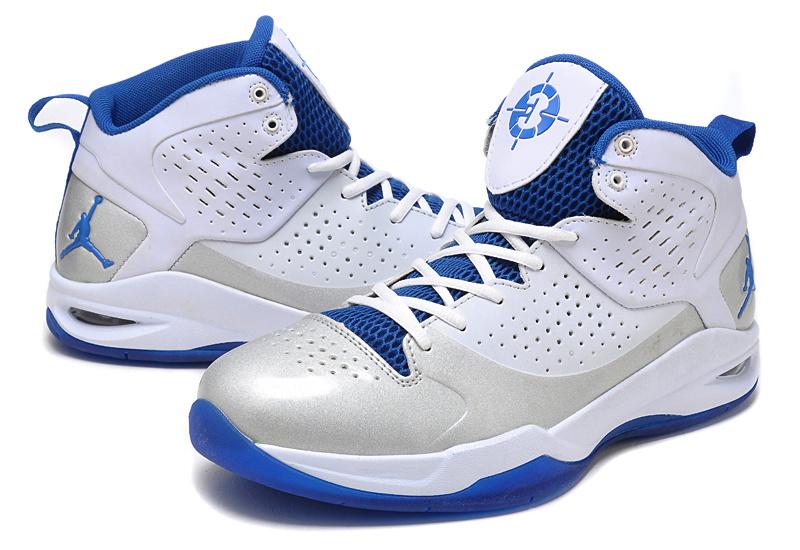 Classic Jordan Fly Wade White Grey Blue