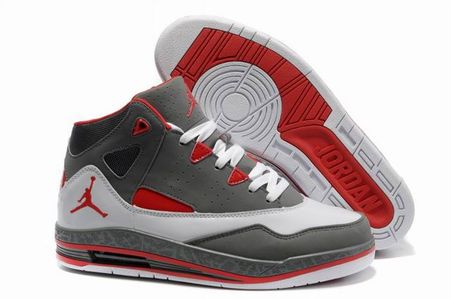 Cheap Jordan Jumpman H Series II Grey White Red Shoes