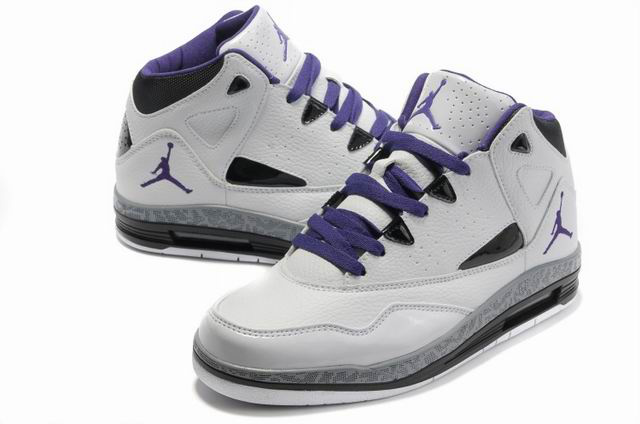 Cheap Jordan Jumpman H Series II White Purple Shoes