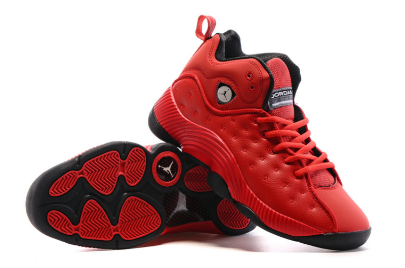 Air Jordan Jumpman Team II All Red Black Shoes