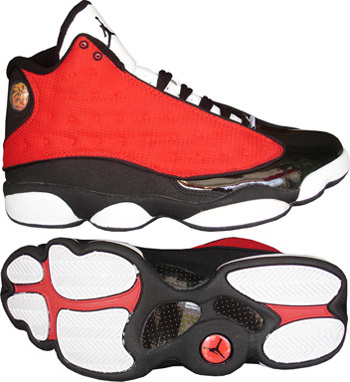 Jordan 13 Retro Red White Black
