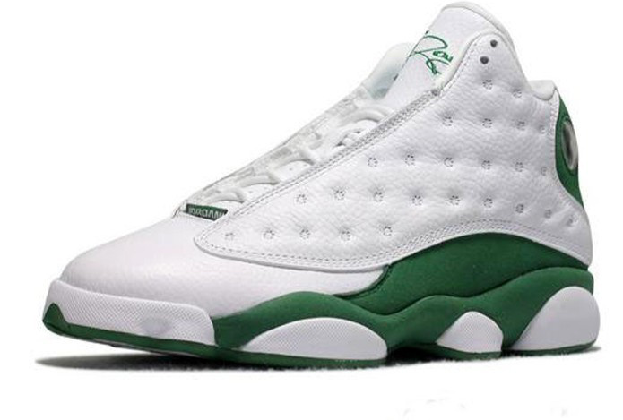 Jordan 13 Retro Shoes White Green