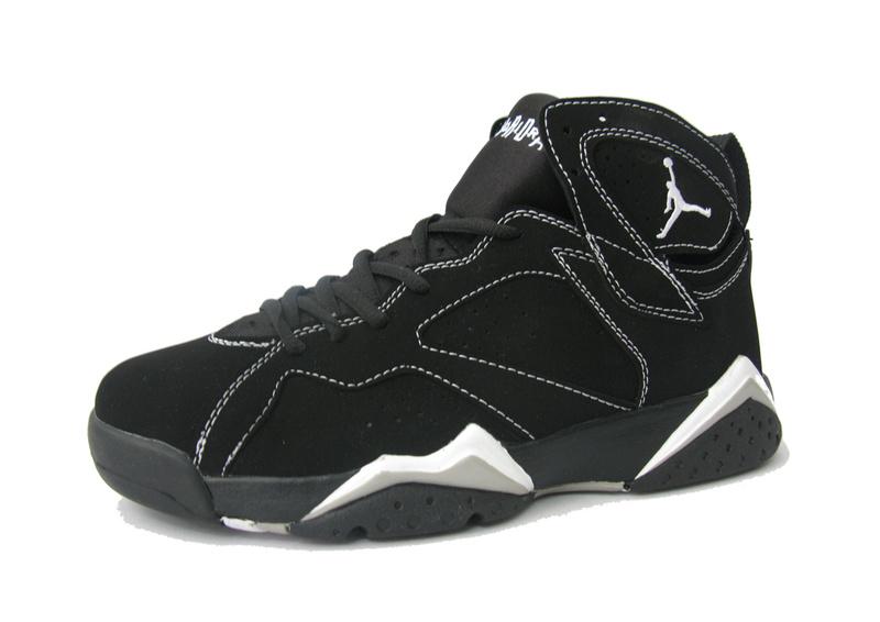 Jordan 7 Retro Black White Shoes