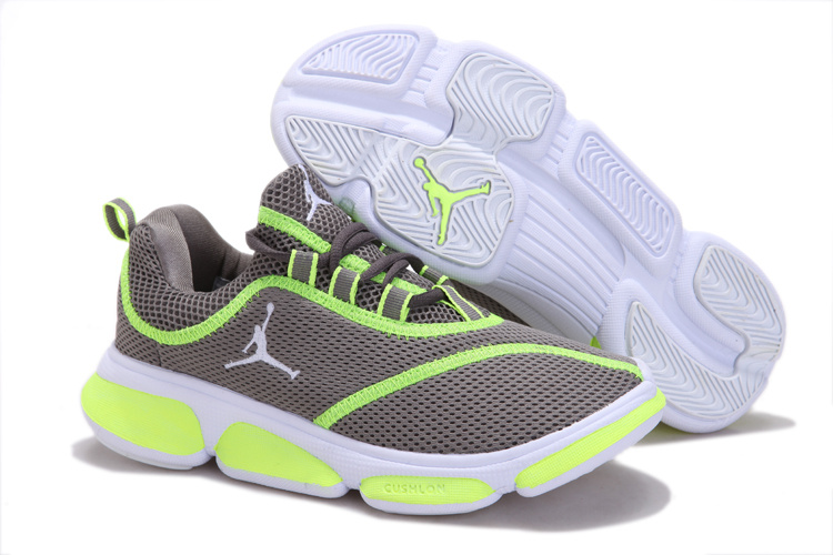 Air Jordan Running Shoes Grey Green For Women