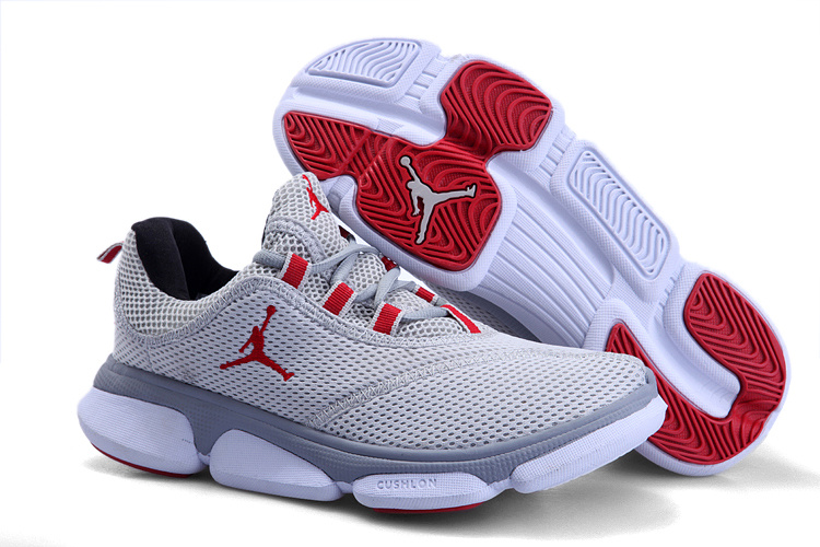 Air Jordan Running Shoes Grey Red For Women