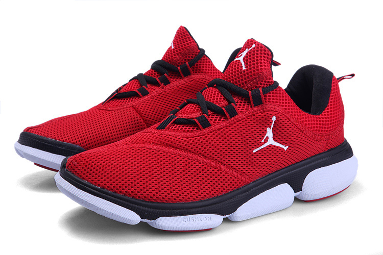 Air Jordan Running Shoes Red Black White