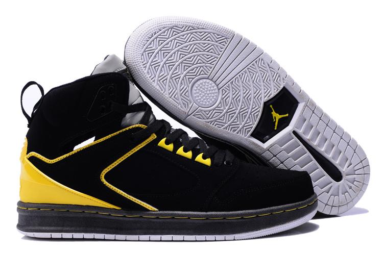 Air Jordan Sixty Club Black Yellow Shoes