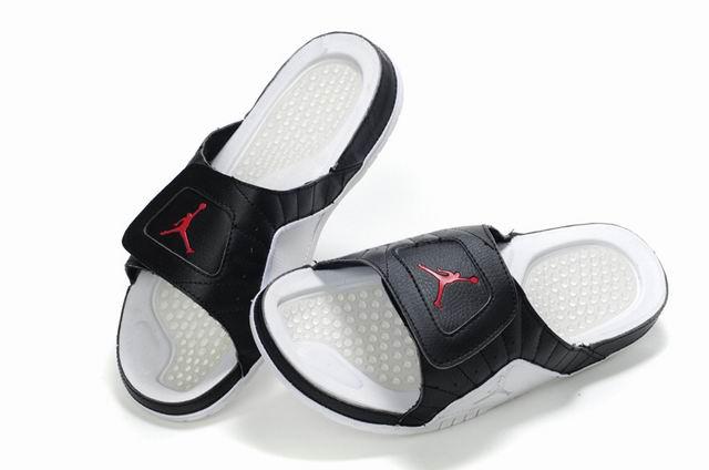 Air Jordan Slipper White Black Red