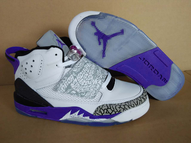 Air Jordan Son of Mars White Purple Shoes