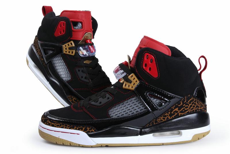 Air Jordan Spizike Black White Gold Shoes