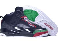 Air Jordan Spizike Black Varsity Red Classic Green Shoes