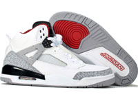 Air Jordan Spizike White Cement Black Shoes