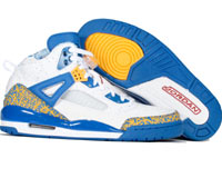 Air Jordan Spizike White Varsity Red Pro Gold Argon Blue Shoes