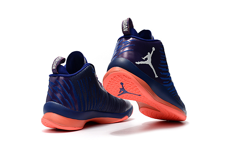 Air Jordan Super Fly 5 Black Purple Orange Shoes
