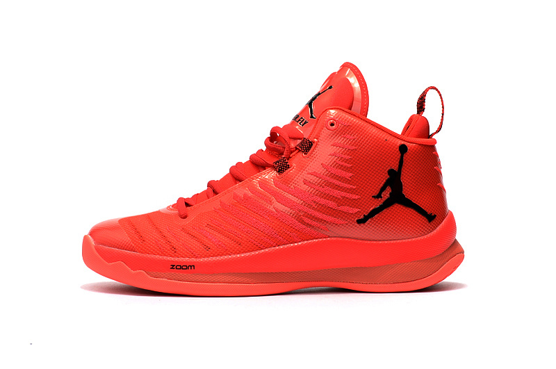 Air Jordan Super Fly 5 Red Black Shoes