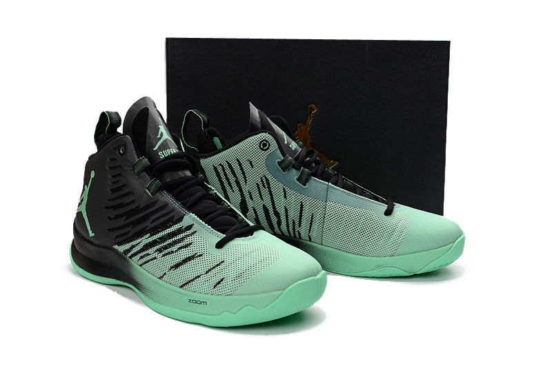 Air Jordan Super Fly X Black Green Shoes
