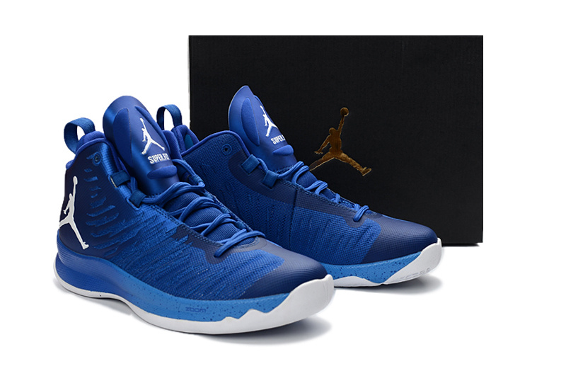 Air Jordan Super Fly X Blue White Shoes