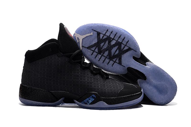 Air Jordan XXX All Black Cat Orange Shoes