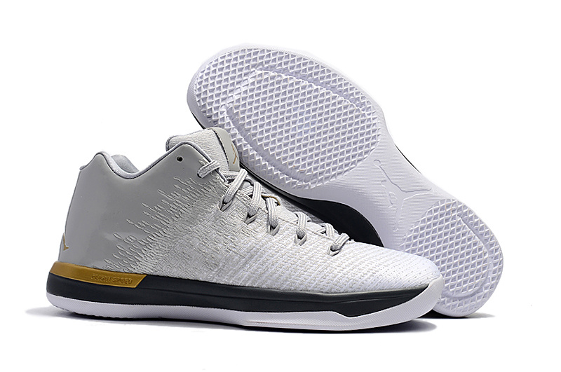 Air Jordan XXXI Low Grey Black Gold Shoes