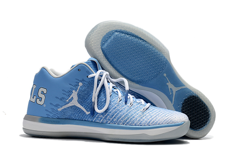 Air Jordan XXXI Low North Carolina Blue Shoes