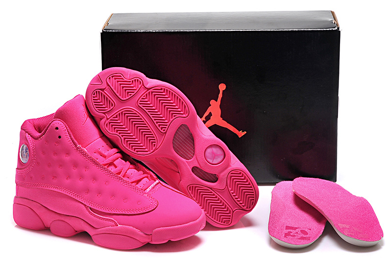 All Pink Air Jordan 13 Shoes For Women