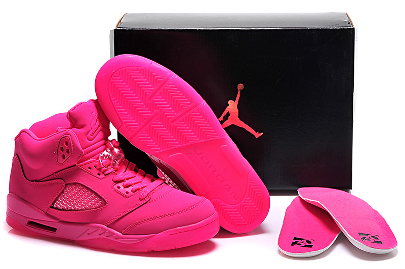 All Pink Air Jordan 5 Shoes For Women