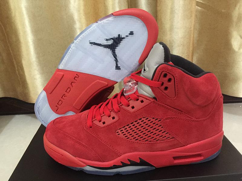 Real Jordan Shoes: Authentic Air Jordan 5 Bulls Red Shoes [17OG41102]
