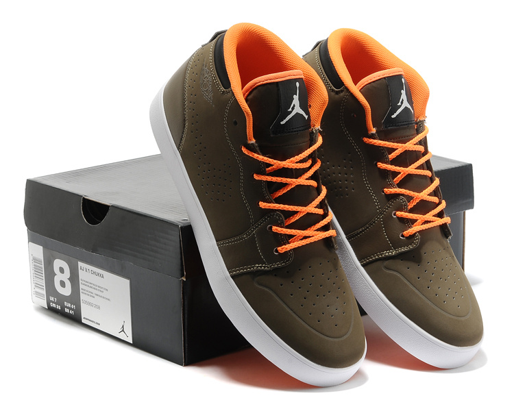 Casual Jordan 1 Coffe Orange Shoes