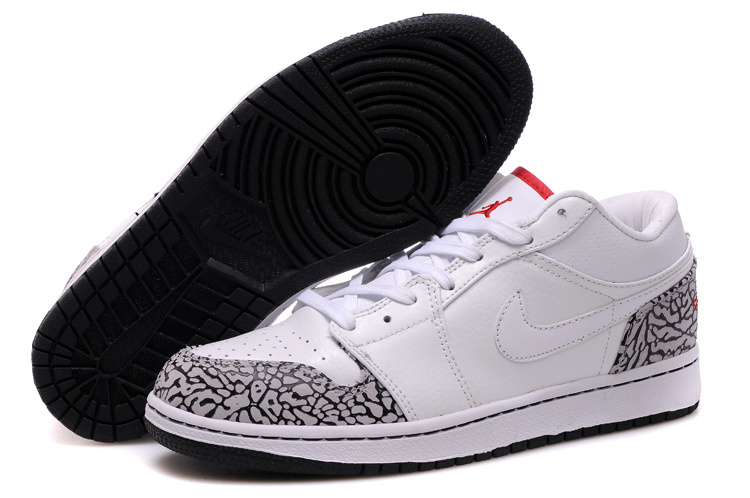 Cheetah Print Air Jordan 1 Low White Red