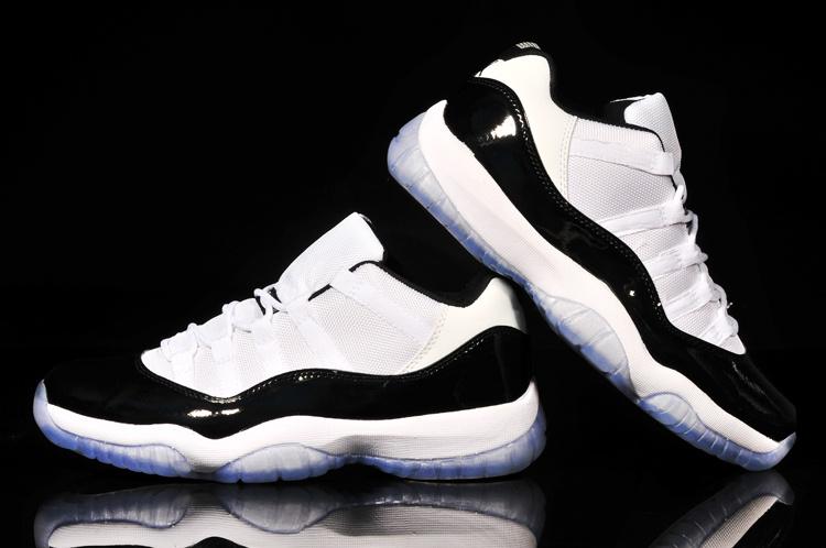 Classic Air Jordan 11 Low Reissue Concord White Black Shoes