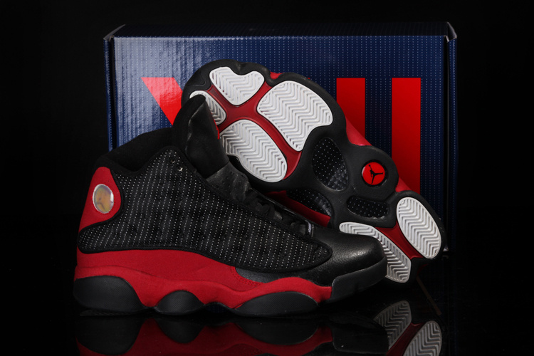 Cool Summer Air Jordan 13 Black Red Shoes