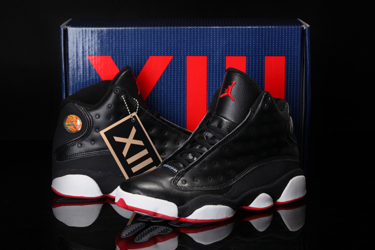 Cool Summer Air Jordan 13 Black White Red Shoes