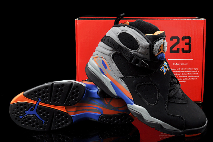 womens air jordan retro 8 orange blue