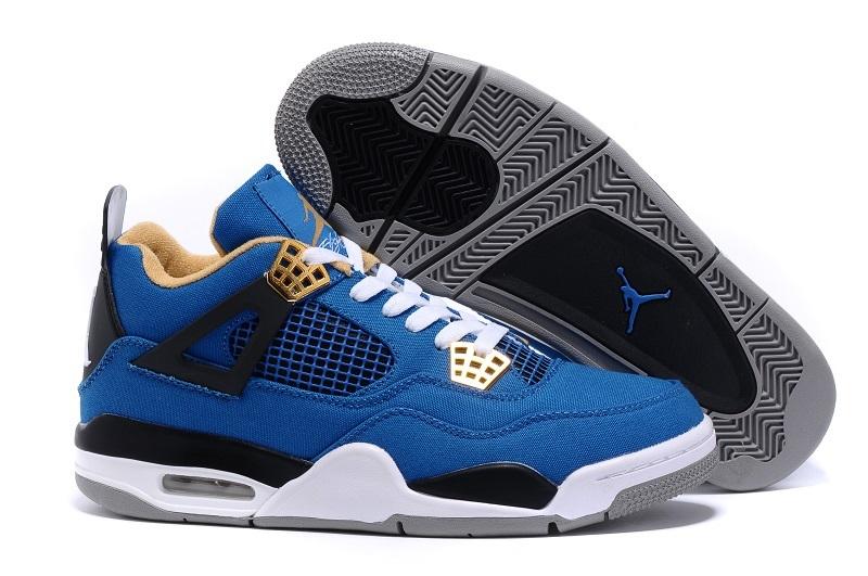 Eminem x Carhartt x Air Jordan 4 Blue White Black Shoes