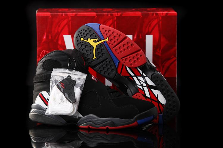 Hardback Air Jordan 8 Black White Red Shoes