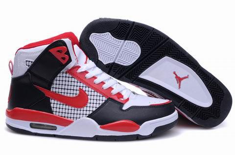 High Heel Air Jordan 4 Black White Red Shoes