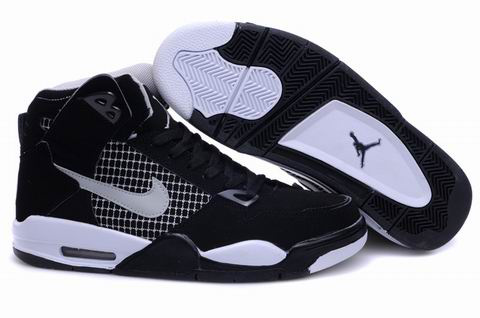 High Heel Air Jordan 4 Black White Shoes