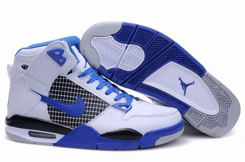 High Heel Air Jordan 4 White Blue Grey Shoes