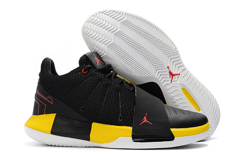 Jordan CP3 XI Black Yellow Red Shoes