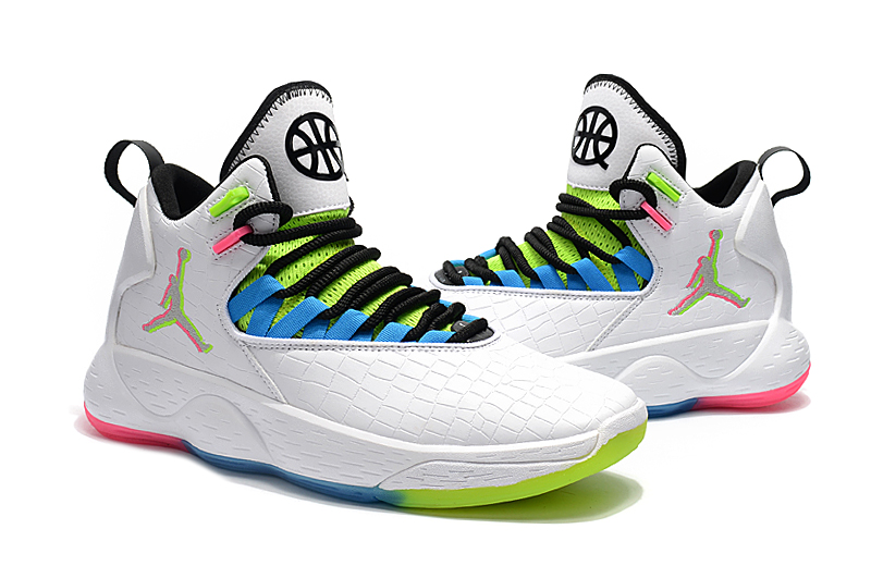 Jordan Super Fly MVP White Green Blue Black Shoes