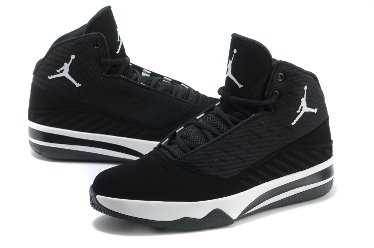 2013 Jordan B`MO Black White Shoes