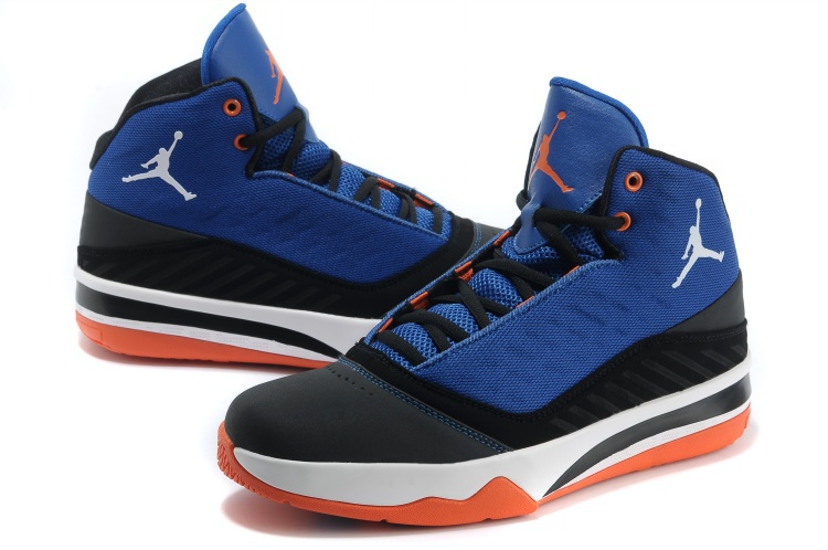 2013 Jordan B`MO Blue Black White Orange Shoes