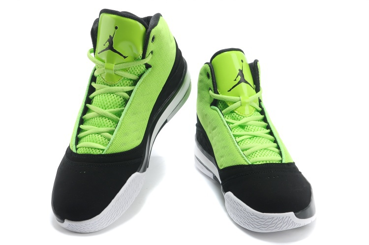 2013 Jordan B`MO Green Black White Shoes